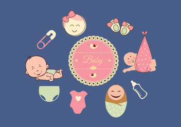 Baby icons set - vector gratuit #274281