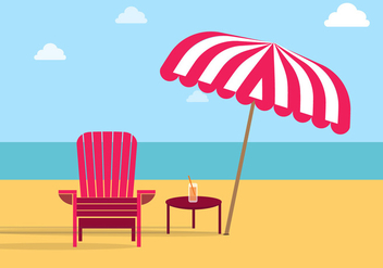 Adirondack Chair Beach Free Vector - vector #274291 gratis