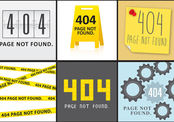 404 Screens - vector gratuit #274391