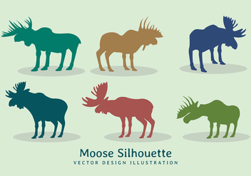 Vector moose silhouette design - vector gratuit #274411