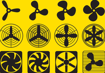 Ventilator Fan Vectors - vector gratuit #274461