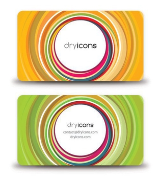 Abstract Colorful Circles Business Cards - Free vector #274481
