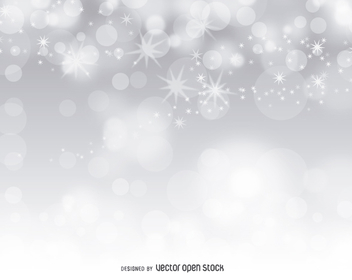 Silver bokeh abstract background - vector #274561 gratis
