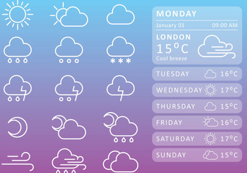 Weather Widget - vector #274631 gratis