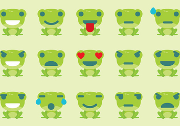 Frog Emoticon Vectors - vector gratuit #274661