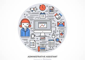 Free Administrative Assistant Vector Design - бесплатный vector #275211
