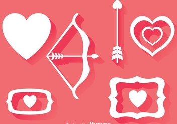 Love Element Icons - vector gratuit #275231