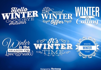 Winter messages - Free vector #275301
