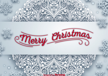 Merry christmas banner - Free vector #281051