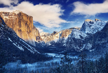 Winter Morning Sunrise Tunnel View Yosemite Valley - Yosemite National Park - image #285111 gratis