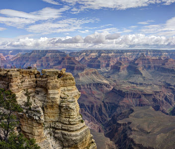 Grand Canyon National Park: Mather Point Pano 03 - бесплатный image #286591
