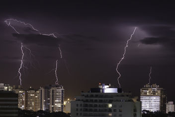 Lighting Storm Over Punta del Este | 140124-3773-jikatu - image gratuit #290751