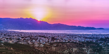 Heraklion at sunset - image #292851 gratis