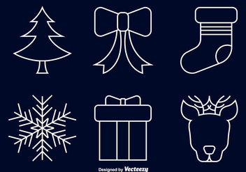 Christmas line icons - Kostenloses vector #297611