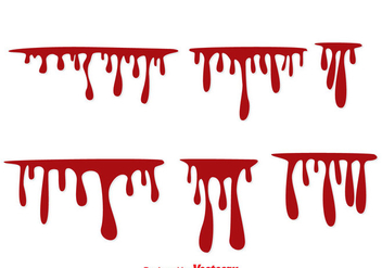 Blood Dripping Vectors - бесплатный vector #297621