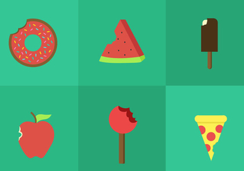 Bite Mark Food Vectors - vector #297681 gratis