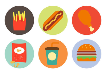 Vector Illustration of Various Foods - vector gratuit #297811