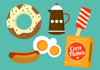 Food Icons - vector gratuit #297851