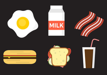 Food Icons - vector gratuit #297871