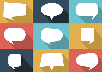 Free Colorful Set of Speech Bubbles Vector - vector gratuit #297881