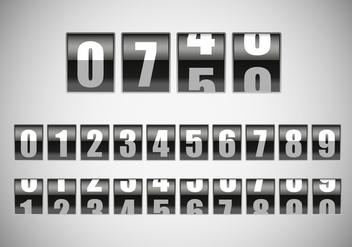 Free Counter With Number Vector - vector gratuit #297901