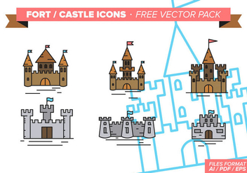 Fort Castle Icons Free Vector Pack - Kostenloses vector #297911