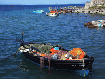 Greece (Lesvos Island)-Fishing boat after a hard day's work - image gratuit #299481