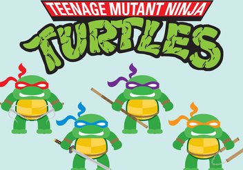 Ninja Turtles Mini Vectors - vector gratuit #301471