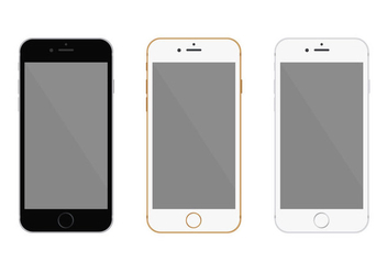 Free Flat Iphone 6 Vector - vector gratuit #301521