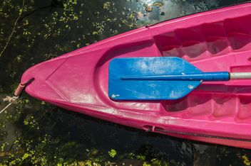 Colorful kayaks docked - Free image #301671