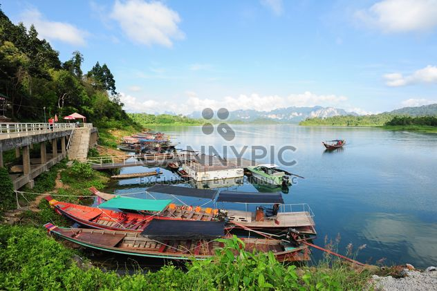 Moored fishing boats - Free image #301711