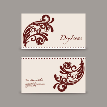 Ornament Swirls Business Card - бесплатный vector #301851