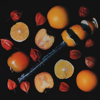 Persimmons and Orange slices - image #301961 gratis