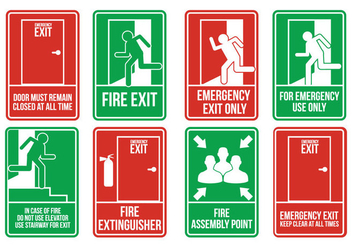 Emergency Exit Vectors - Free vector #302141