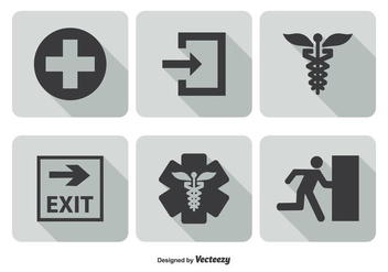Emergency Icon Set - vector gratuit #302461