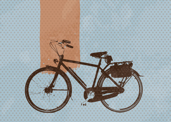 Retro Bicycle Blue Totted Background - vector gratuit #302481
