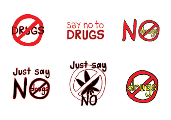 Free No Drugs Vector Series - vector gratuit #302581