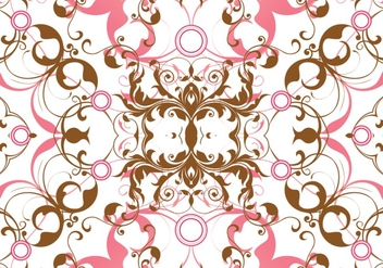 Pink Seamless Floral Background - vector #302631 gratis