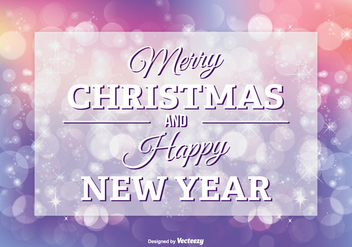 Christmas Greeting Illustration - vector gratuit #302641