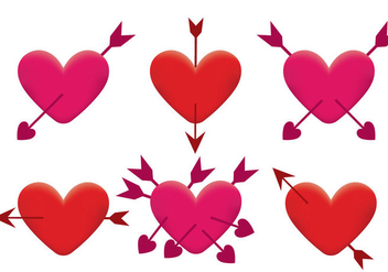 Arrow Through Heart Vector - vector gratuit #302661