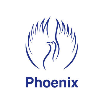 Blue Phoenix Bird Logo - Free vector #302741