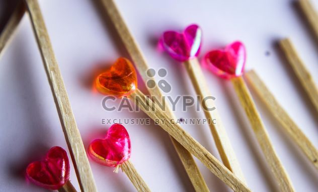lollipop orange and pink lollipops - image gratuit #302781