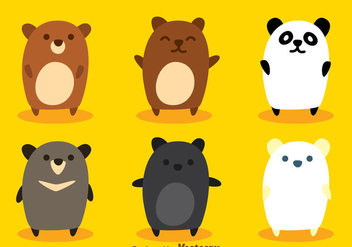 Cute Bear Vectors - Free vector #302971