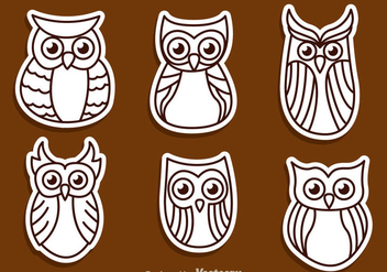 Owl Outline Vectors - Free vector #302991