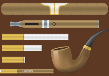 Tobacco Vector Items - бесплатный vector #303031