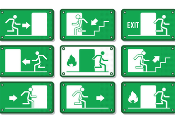 Emergency Exit Sign - vector #303071 gratis