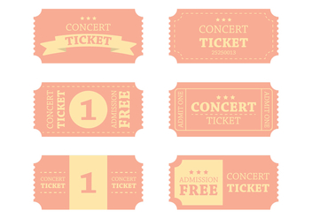 Vintage Concert Ticket Vector - бесплатный vector #303101