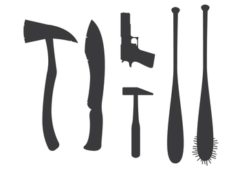 Zombie Killer Weapon Vector - Free vector #303111