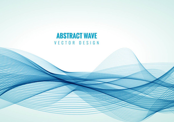 Blue line waves background vector - Kostenloses vector #303131