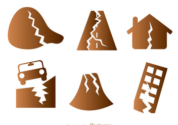 Earthquake Damage Icons - Free vector #303151